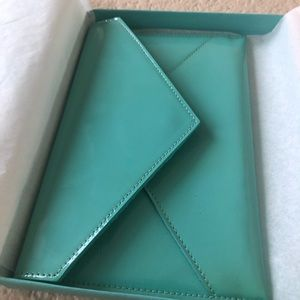Tiffany & Co patent leather envelope clutch